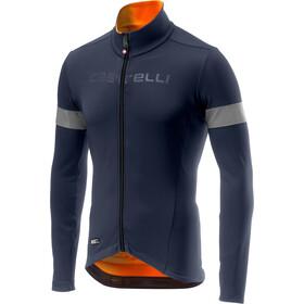 Castelli Nel Mezzo Rain Or Shine Longsleeve Jersey Heren, dark steel blue/orange